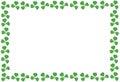 St Patricks Day shamrock frame