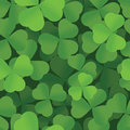 St. Patricks Day shamrock seamless background Stock Photos