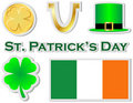 St Patricks Day Stickers Stock Photos