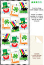 St. Patricks Day themed visual logic puzzle Stock Photos