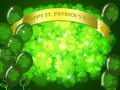 St Patricks Day Two Green Beers Banner Shamrock Stock Image