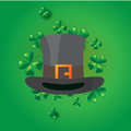 St. Patricks Day vintage holiday badge design.
