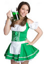 St Patricks Day Woman Stock Photography