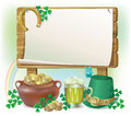 St. Patricks Day wooden board Stock Photos