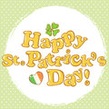 St Patricks postcard with text  Stock Photos