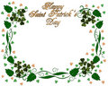 St Pattys Day Shamrocks border Stock Image