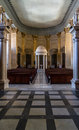 St paul cathedral interior the apse and font at pauls anglican pro in valletta Stock Image