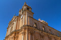 St paul cathedral side view of in mdina malta Stock Images