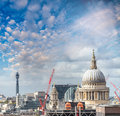 St Paul Cathedral at sunset, London Royalty Free Stock Photo
