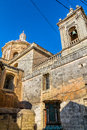 St paul church rear view of the in rabat malta Royalty Free Stock Photo