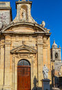 St paul church side door one of the doors of in rabat malta Royalty Free Stock Images