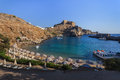 St Paul's Bay Beach in Lindos Royalty Free Stock Photo