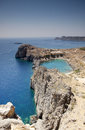 St Paul's Bay at Lindos, Rhodes Greece Royalty Free Stock Image