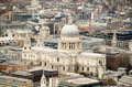 St Paul's Cathedral from above Royalty Free Stock Photography