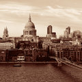 St paul s cathedral in london as the famous landmark in black and white Stock Photography