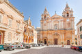 The st paul s cathedral in malta s old capital mdina Royalty Free Stock Photo
