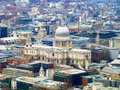 St paul s cathedral view of from the sky Royalty Free Stock Photography