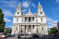 St paul s cathedral west front london england uk is a church of the seat of the bishop of and mother church of the diocese of Royalty Free Stock Image