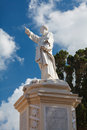 St paul statue near parish church st paul rabat malta Royalty Free Stock Photo
