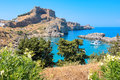 St Pauls bay. Lindos, Rhodes, Greece Royalty Free Stock Photo