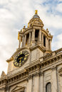 St Pauls Cathedral clock and clock tower.London, England Royalty Free Stock Photo