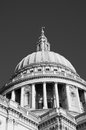 St pauls cathedral in london uk black and white Stock Image
