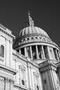 St pauls cathedral in london uk black and white Stock Photo