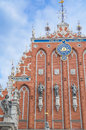 St peter church and house of the blackheads at town hall square old town in riga latvia august listed under unesco Royalty Free Stock Photo