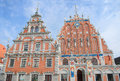 St peter church and house of the blackheads at town hall square old town in riga latvia august listed under unesco Royalty Free Stock Image