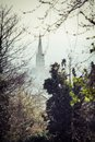 St peter parish the spire of the of dulwich common london Stock Photo
