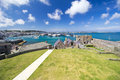 St Peter Port seen from Castle Cornet Royalty Free Stock Photo