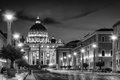 St Peter Rome Night Royalty Free Stock Photo