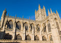 St peter s abbey bath somerset uk against clear blue sky Royalty Free Stock Image
