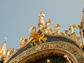 St peter s basilica main arch on facade of in venice italy Stock Photos