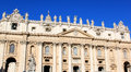 Facade of St. Peter's Basilica in Rome, Italy