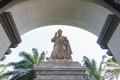 St peter s basilica oudoor statue of the assumption university Stock Photo