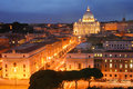 St peter s basilica vatican city lit up at night in a square rome lazio italy Royalty Free Stock Images