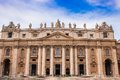 St. Peter's Basilica in Vatican City in Rome, Italy. Royalty Free Stock Image