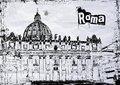 St peter s cathedral in rome italy bw Stock Photo