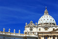 St peter s square in vatican city rome italy europe Royalty Free Stock Images
