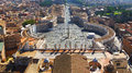 St. Peter's Square at the Vatican, Rome, Italy Royalty Free Stock Photo