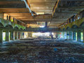St peter seminary cardross scotland uk september ruins of iconic masterpiece of the new brutalism in nr glasgow grade i Royalty Free Stock Image