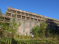 St peter seminary cardross scotland uk september ruins of iconic masterpiece of the new brutalism in nr glasgow grade i Royalty Free Stock Images