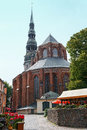 St peter x s church in riga latvia a parish of the evangelical lutheran of Stock Images