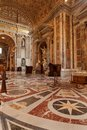 St peters basilica interior detail of the vatican rome italy Stock Image