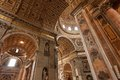St peters basilica interior detail of the vatican rome italy Stock Photos