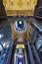 St peters basilica interior detail of the vatican rome italy Royalty Free Stock Image