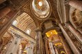 St peters basilica interior detail of the vatican rome italy Stock Photo