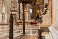 St peters basilica interior detail of the vatican rome italy Royalty Free Stock Photos