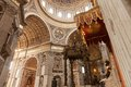 St peters basilica interior detail of the vatican rome italy Royalty Free Stock Images